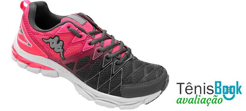 tênis kappa impact rosa e preto feminino