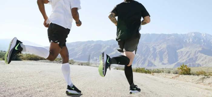 homens correndo com o tênis nike pegasus 37
