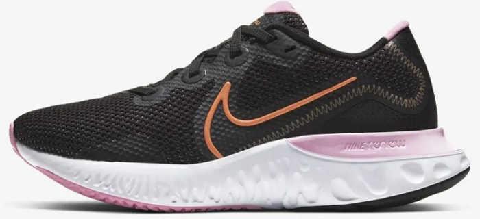 Nike Renew Run feminino rosa e preto