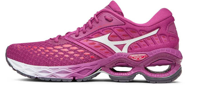 mizuno wave creation 21 feminino rosa